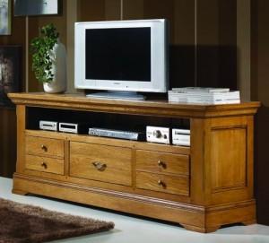 Meuble tv en chêne massif – Maisondunrêve.com