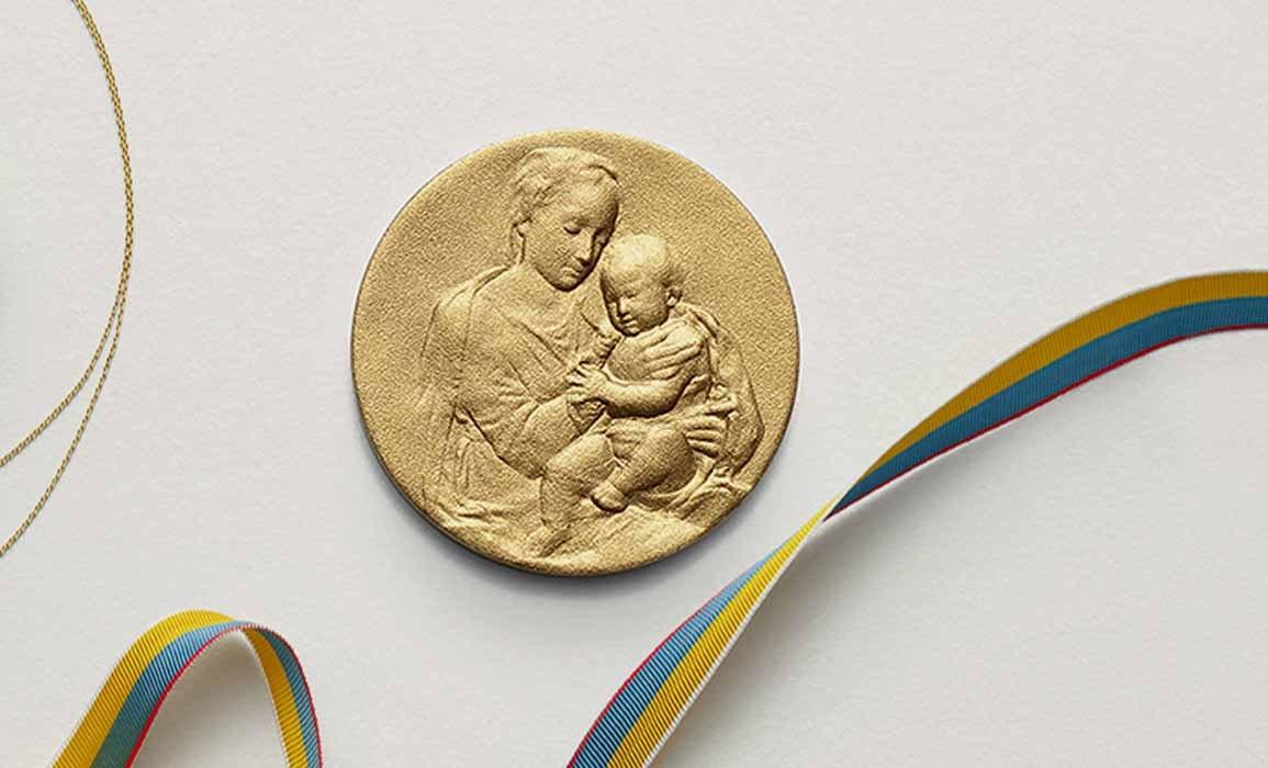 Médaille Vierge à l'enfant - ARTHUS BERTRAND